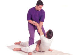 Thai traditional massage of back
